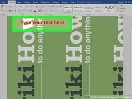 Word Backgrounds 5 Easy Ways To Add Backgrounds In Word Wikihow