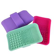 silicone makeup brush cleaner. 1pc silicone makeup brush cleansing palette nail cleaner cleaning mat washing scrubber pad cosmetic make c