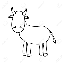 nativity stable clipart.  Nativity 79097131 Outlined Cow Manger Animal Nativity Vector Illustration Clipart  To Stable E