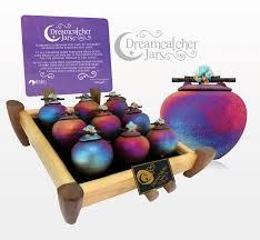 Dream Catcher Jar RAKU Assorted Crystal Dream Jars Karmic Inspirations 85