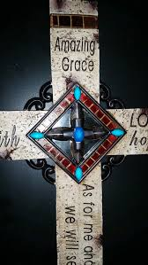 iron wall cross love:  joshua   love hope faith amazing grace wall cross