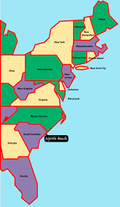 eastcoastmap  myrtle beach is situated on the east or atlantic