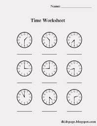 Download Printable Time Worksheet for Kids | Worksheets | Worksheets ...