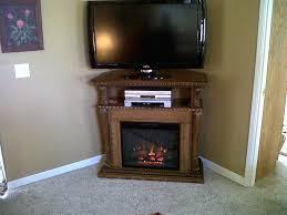 corner electric fireplace tv stand oak stone