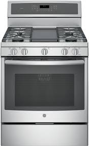 gas range with griddle.  With GE Profile PGB911ZEJSS  30 In Gas Range With Griddle