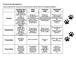 this rubric was created to assess student informational compare    this rubric was created to assess student informational compare contrast essays on  plants or
