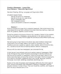 Newspaper Story Template Lesson Plan Newspaper Template Front Page Article Layout