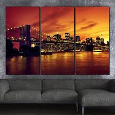 nyc brooklyn bridge wall art canvas wall art holycowcanvas on sunset wall art canvas with nyc sunset over brooklyn bridge canvas art holycowcanvas