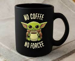 Ever since the first episode of star wars series the mandalorian aired on disney plus in the us (no, we still can't watch it in the uk yet), the world. Baby Yoda Coffee Meme Sippy Sip 10lilian