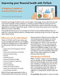 Consumer Action Improving Your Financial Health With Fintech