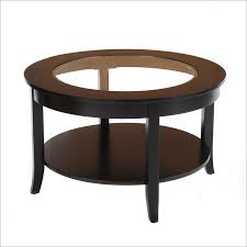 vintage round glass coffee table