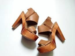 chunky wooden heels