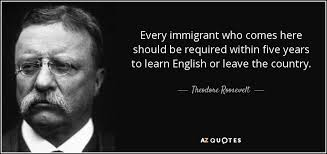 Immigration Quotes Inspiration Theodore Roosevelt Quote Every Immigrant Who Comes Here Should Be