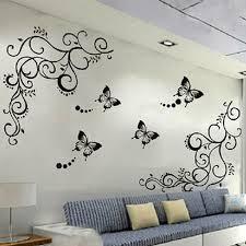 3D lowest price calssic black <b>butterfly</b> flower Wall sticker home <b>decor</b> ...