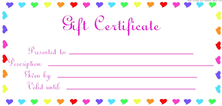Gift Certificate Template Printable Printable Gift Certificates Download Them Or Print