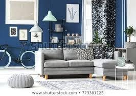 blue grey sofa big living room with blue walls grey sofa and plenty of fashionable accessories blue grey sofa