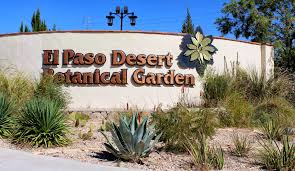 el paso desert botanical entrance wall