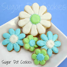 decorated flower sugar cookies.  Decorated Daisy Cookies Throughout Decorated Flower Sugar C