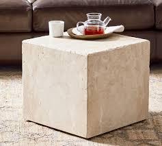 madison travertine cube pottery barn