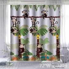 mainstays monkey decorative bathroom shower curtain