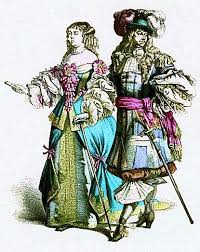 the second estate two extravagantly dressed members of the second estate circa 1760 before the revolution french