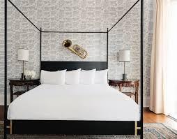 Modern bed Simple Josephinemoderncanopybed Doorman Designs The Josephine Canopy Bed Modern Canopy Bed Doorman Designs