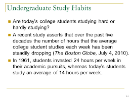 business statistics communicating numbers ppt video online  undergraduate study habits