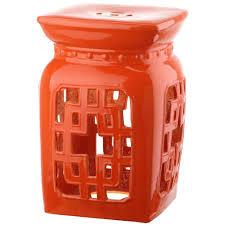 patio stool: beijing filigree orange patio stool caffc e ec acd ccfebae