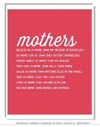 Happy Birthday Daughter Quotes From A Mother 37 Awesome Mothers Day From Daughter Mom Poem Typographic Print Mother In Law