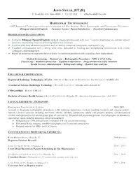 Radiologic Technologist Resume Classy Radiologic Technologist Resumes Technologist Radiologic Technologist