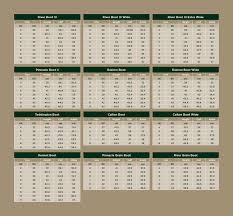 Footwear Size Chart Dublin Footwear Size Guides