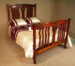 antique walnut art nouveau double bed