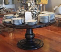 living room attractive solid wood round table dining awesome decoration with black distressed including silver baubles