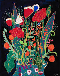 saatchi art artist lara meintjes painting marks flowers bouquet of red and