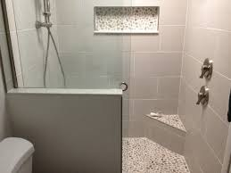 bali cloud pebble tile shower floor seat niche subway with regard to large plans 18