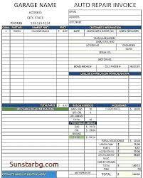 auto body repair invoice download auto body repair invoice template for free cell