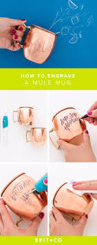 diy gift for the office diy engraved copper mug diy gift ideas for your