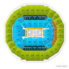 Fedex Forum Memphis Grizzlies Seating Chart Grizzlies Vs Pacers Tickets Fedex Forum 12 2 19 Game