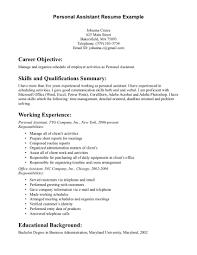 resume  personal assistant resume  corezume cosample resume