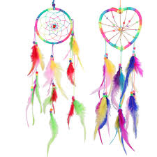 Dream Catcher Stories New Multi colored Dream Catcher Windbell Feathers Handicrafts Wall 50
