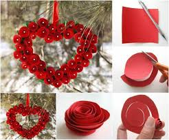 heart wall decoration how to diy creative paper hearts wall decor best collection