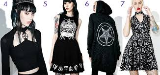 Image result for satanic fashion