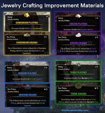 improvement materials grains and platings