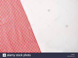 white table top view.  Table Red And White Checkered Fabric On Table Top View Horizontal  Composition Inside White Table View