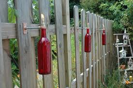 cool tiki torches good design with wine bottle