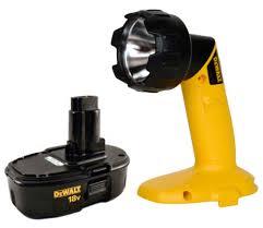 dewalt flashlight 18v. dewalt dw908 18v pivoting head flashlight torch light and one dc9099 battery new a
