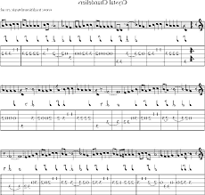 guitar tab and sheet for crystal chandeliers