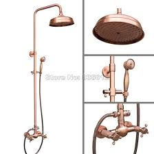 Copper shower fixtures Diy Wall Mounted Bathroom Antique Red Copper 8 Aliexpress Wall Mounted Bathroom Antique Red Copper 8