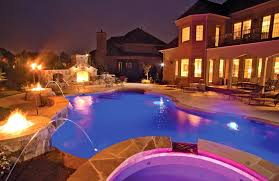 pool deck lighting ideas. Swimming Pool Lighting Ideas With Fire Pits And Stunning Deck I