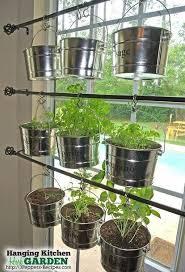 indoor window garden. hanging kitchen herb garden indoor window n